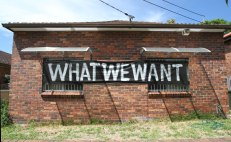 R. O.: What We Want (2013), Installation. 7 Riverdale Ave
