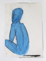 Sophie V Coombs: Content Provider, 2013, pastel on paper