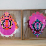 Ali Noble pair bonded, 2010 material & glue on plywood 46.5 x 46.5cm SOLD