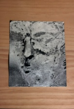 Andrew Hazewinkel Untitled accumulation [ excavation # 13] [ from stone portrait of Caligula], 2012 Aluminium leaf on carborundum sandpaper