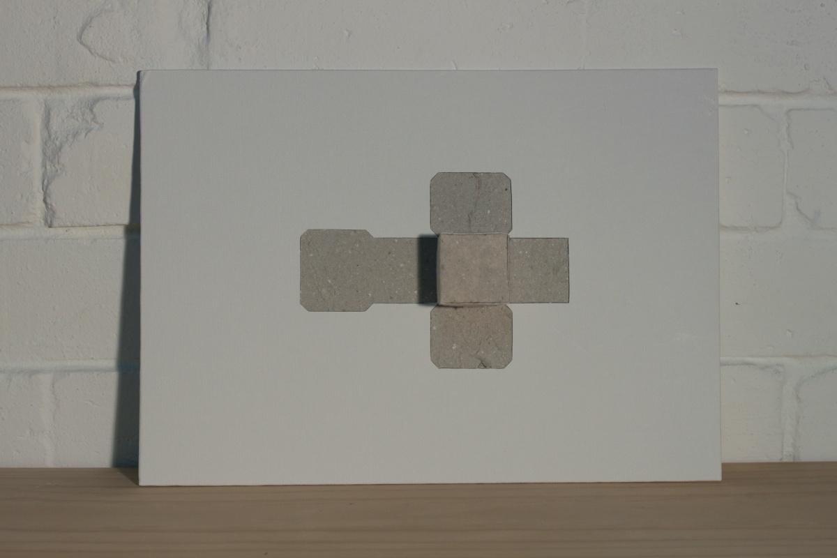 Bronia Iwanczak Untitled Cube, 2005 paper & board 35 x 25cm Edition 4/7 SOLD