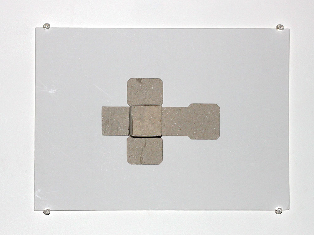 Bronia Iwanczak: Untitled Cube, 2005, paper and board, 35 x 25cms. Edition 4/7 SOLD
