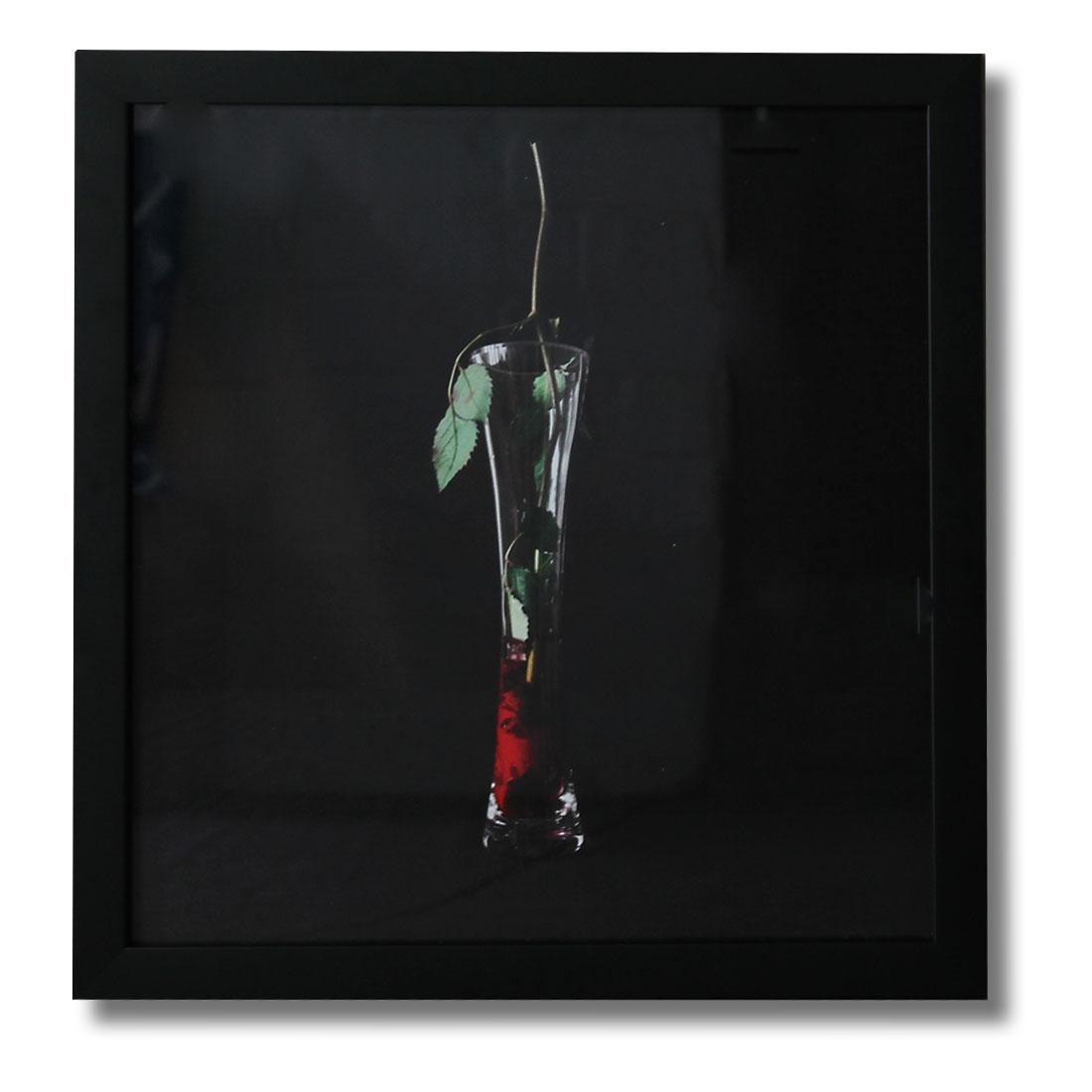Iakovos Amperidis: Upturned Flower in Vase, 2013. Framed digital print on paper, 30 x 30cm