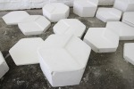 Bridget Minatel: Geo-metric (2013), plaster of paris, dimensions variable.