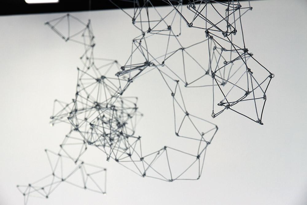Bridget Minatel: Pixar Mountain, (2013). Aluminium wire, dimensions variable.