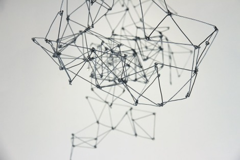 Bridget Minatel: Pixar Mountain, (2013). Aluminium wire, dimensions variable.