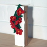 Sarah Newall Scarlet flax #1 in sesame oil bottle, 2010 cotton yarn, acrylic paint, pine & plywood 17.5 x 6 x 7.5cm SOLD