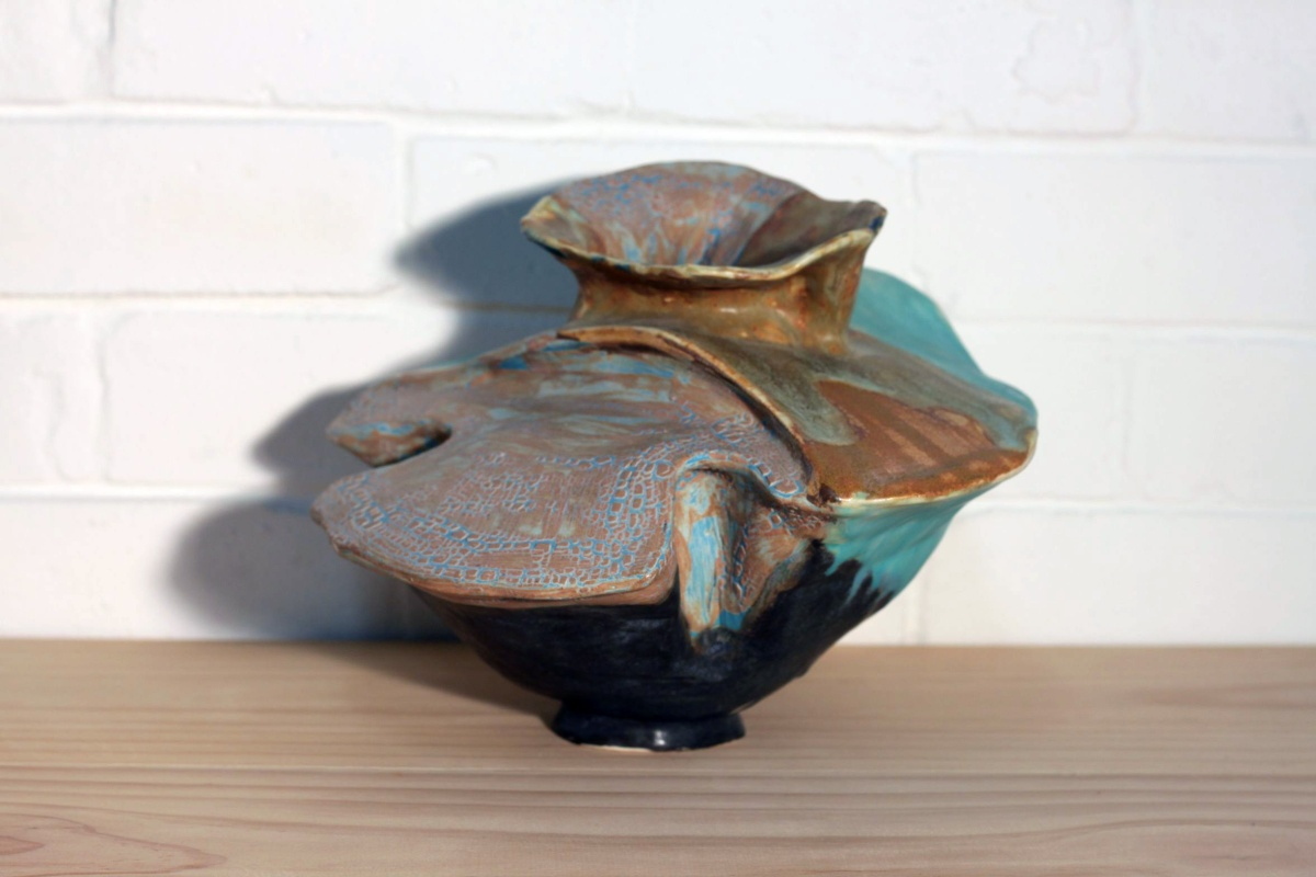 Somchai Charoen untitled (Look Out series), 2008 ceramics SOLD