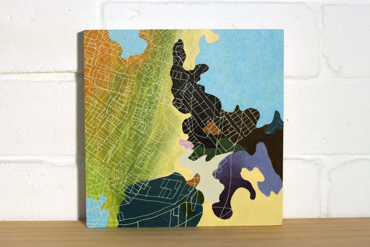 Sue Beyer Undergrowth 15, 2013 acrylic on birch panel 20 x 20cm