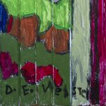 Digby Webster: Welcome to the Jungle, 2013, acrylic paint on wood door