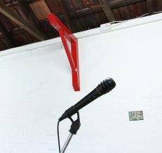 Alex Gawronski: Right Angle (2013). Timber, enamel, stainless steel. 65 x 65 x 7 cm