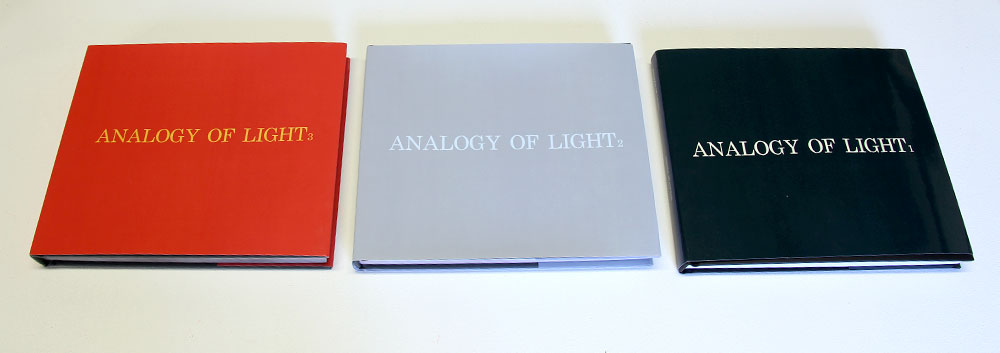 Bronia Iwanczak: Analogy of Light, 3 books, each approx 240 pages, 25cm x20cm, 2013