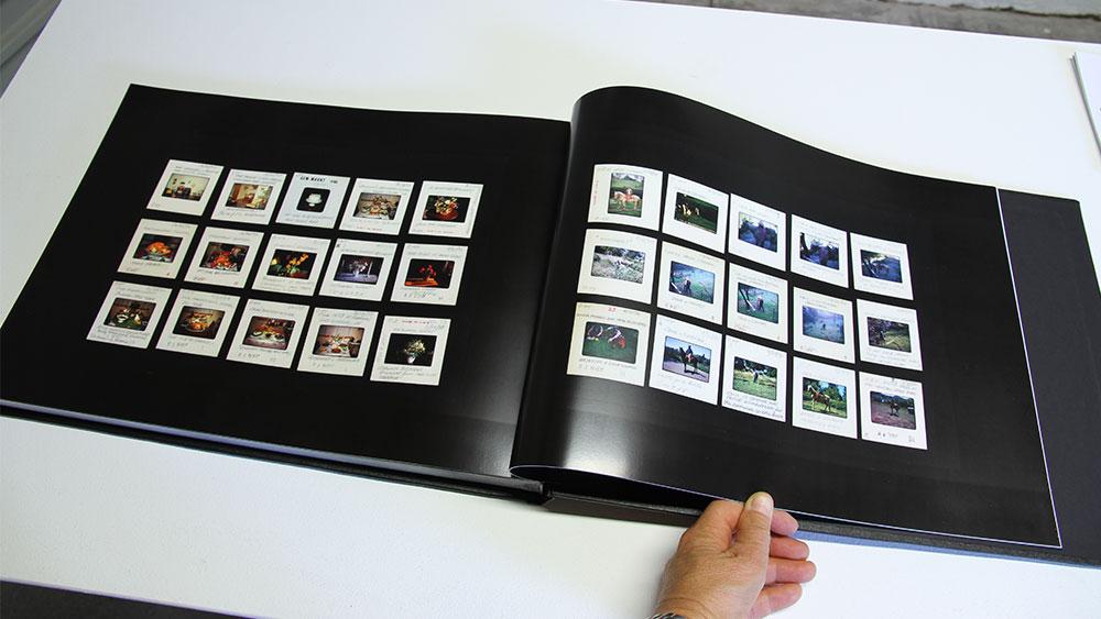 Elvis Richardson: SLIDE SHOW LAND Dorothy and Jack, detail. 184 colour pages digital prints on lustre paper