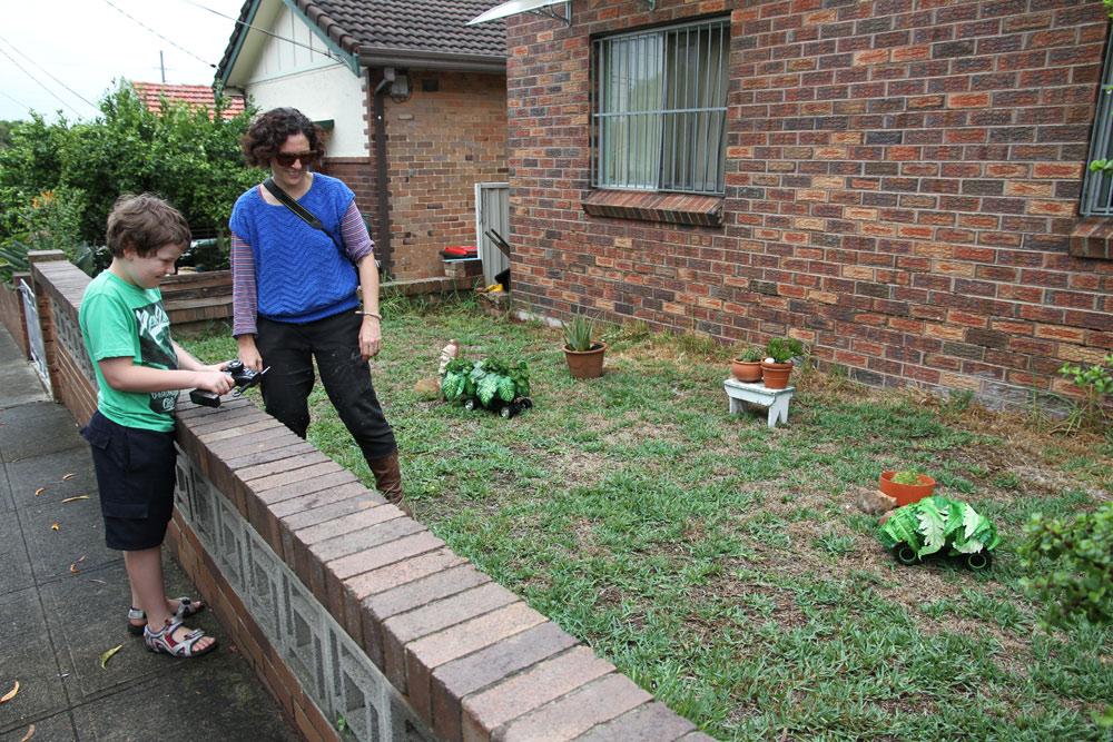 Josie Cavallaro Remote Control Garden Fake plants, remote control cars