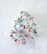 Rox de Luca: Saved Bundles I- V, 2014. found plastics, wire