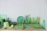 Sarah goffman: Blues and Greens 2014. plastic, size variable, detail