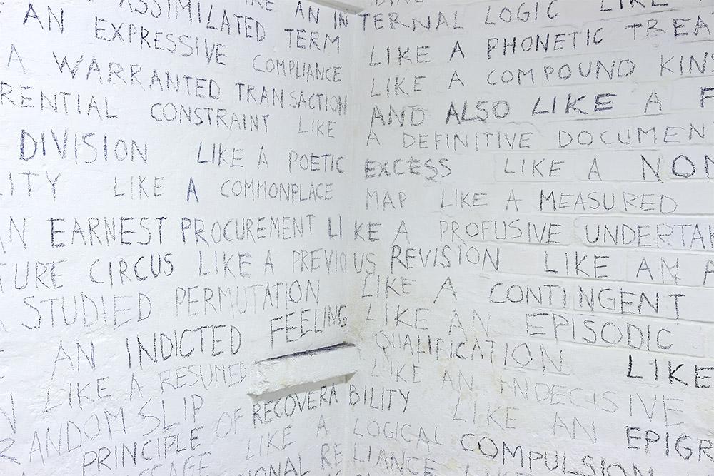 Lynne Barwick: Like a structured language, 2014, detail. Photo Jane Polkinghorne