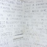 Lynne Barwick: Like a structured language, 2014, detail. Photo Jane Polkinghorne