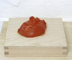 Sarah Newall: Plastic Blobs (orange), 2014, bio-plastic