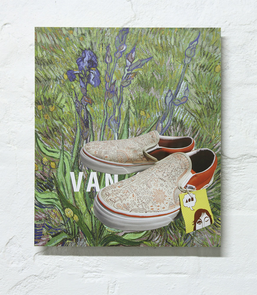 Van, collage by Mark Titmarsh. Pic: Jane Polkinghorne