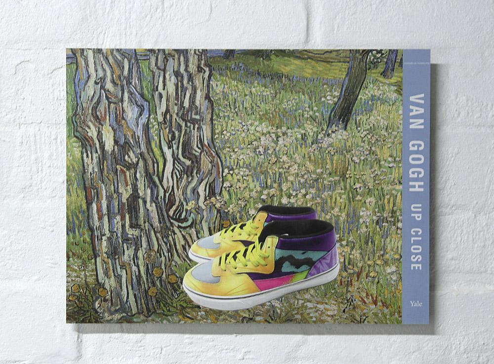 """Van Gogh Up Close"" paper collage by Mark Titmarsh. Pic: Jane Polkinghorne"