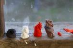 Pulped, 2014 (installation view). Cotton pulp. Melissa Harvey
