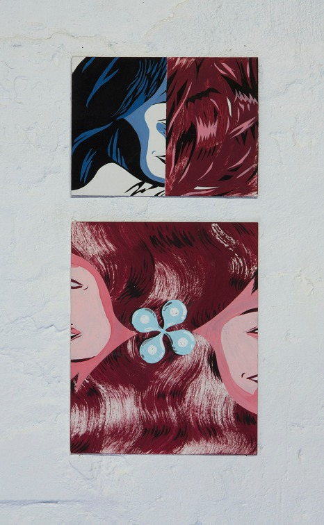 Mary Anna Pomonis, Untitled, paint on card