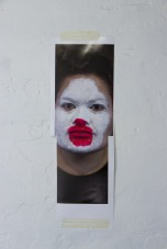 Salote Tawale Portrait #37 test, 2014 . Inkjet print, tape, glue 249w x 769h mm