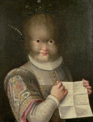 Lavinia Fontana, Portrait of a Girl Covered in Hair (Portrait of Antonietta Gonsalvus), oil on canvas, c1594-95.