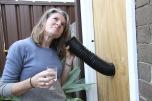 Janine Bailey: GIRLS TALK, 2014. Plywood, plastic pipe. Pictured: Elizabeth Pulie