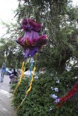 Margaret Mayhew: Suspended Sea Beasts (2012-13), Wire, yarn, fabric, bamboo lanterns