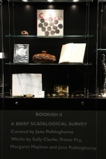 """""""A Brief Scatological Survey"""", 2015, curated by jane Polkinghorne. Objects and books from collection of curator"""