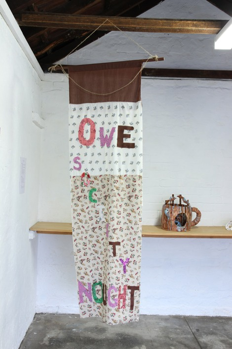 Jacqueline Larcombe, O.S.N fabric banner, 2016