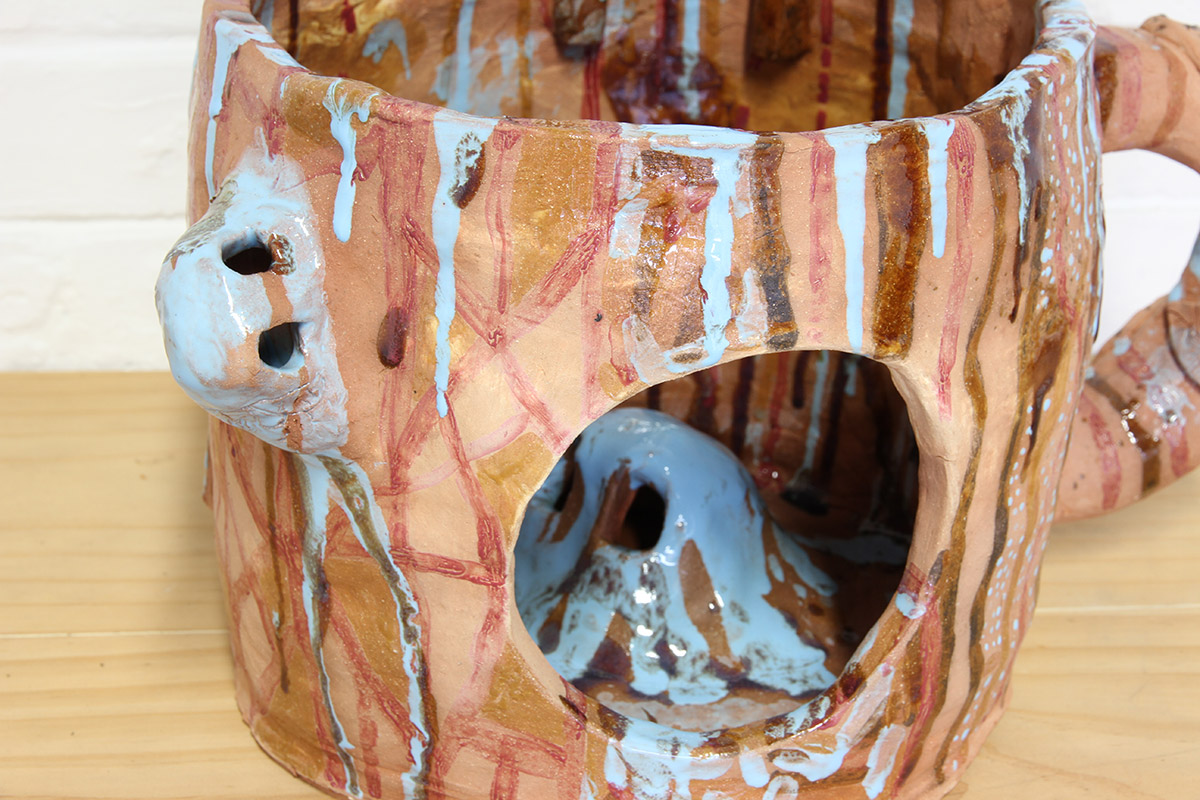 Jacqueline Larcombe, Ghost fish mug, 2016, earthenware, glaze