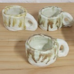 Jacqueline Larcombe, Commune soup bowl set, earthenware, under glaze.