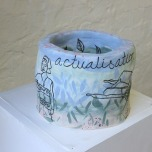 Jacqueline Larcombe, Self actualisation mug, 2015, earthenware, under glaze.