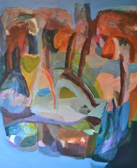 Madeleine Cruise, Mangrove Caves 2015 Acrylic on canvas 80x66cm