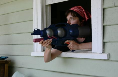 "Jacqueline Larcombe video still from ""Mangrove Creek Commune"", 2016"
